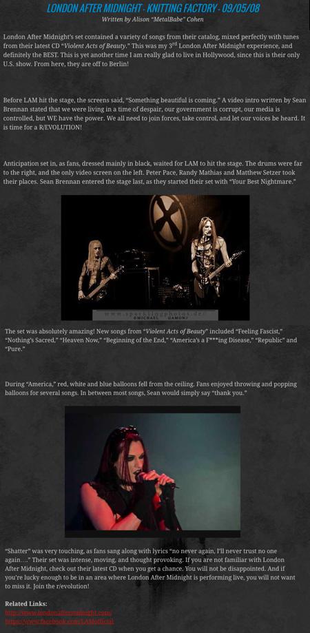 LAM Concert Review